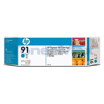 HP NO 91 INK CYAN 775-ML